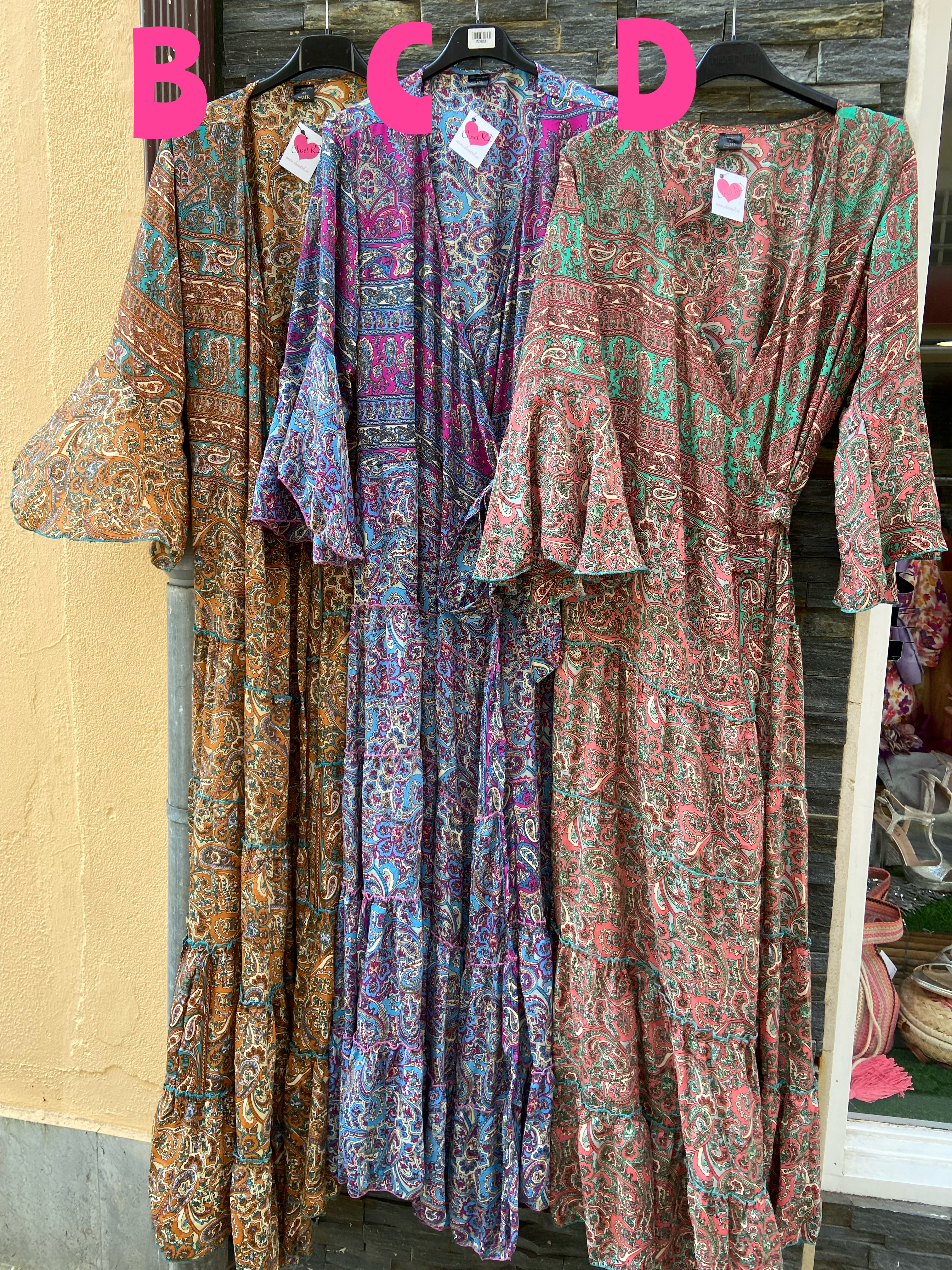 Kimono-vestido Dalia colores