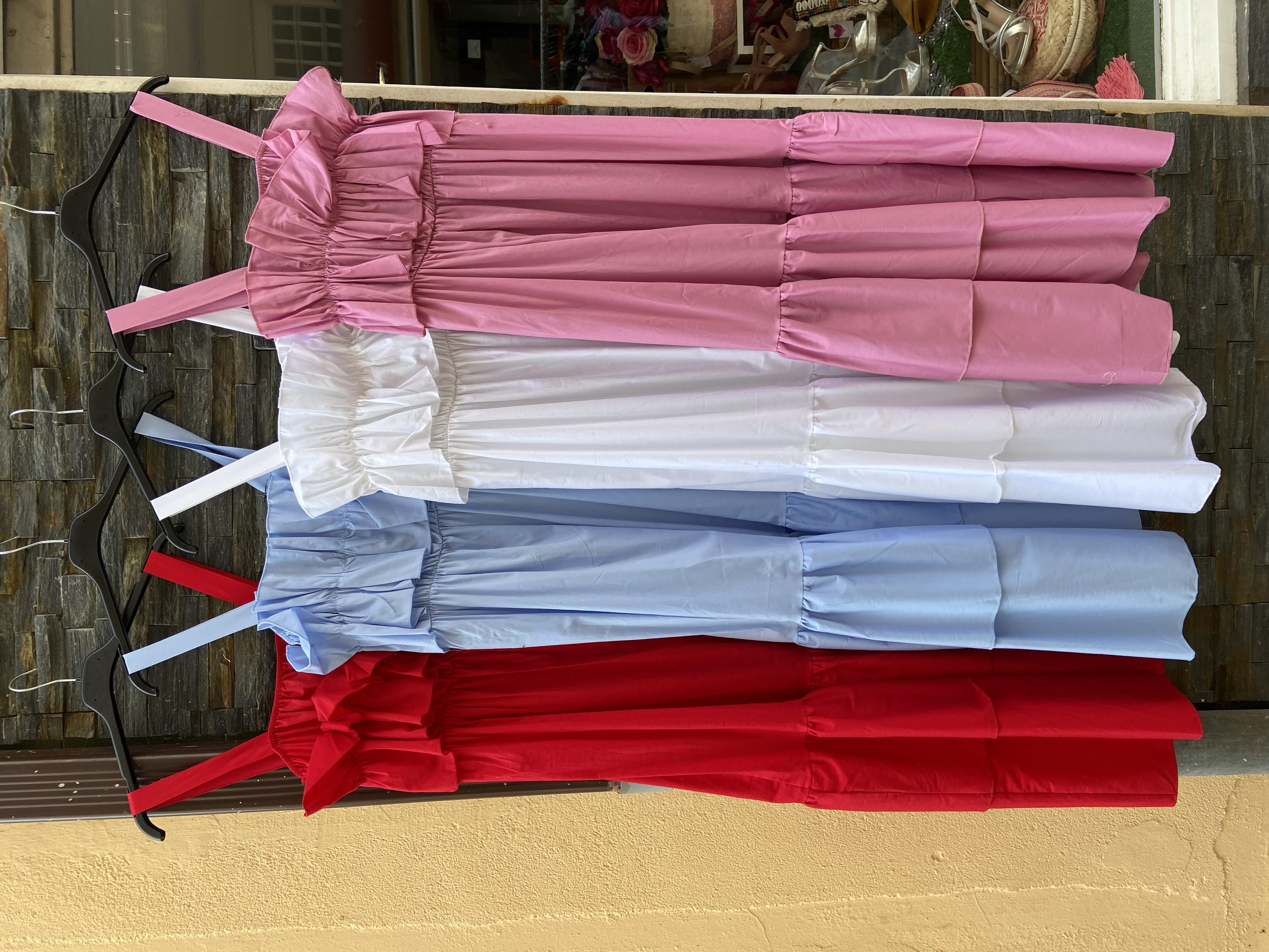 vestido volante pasion colores