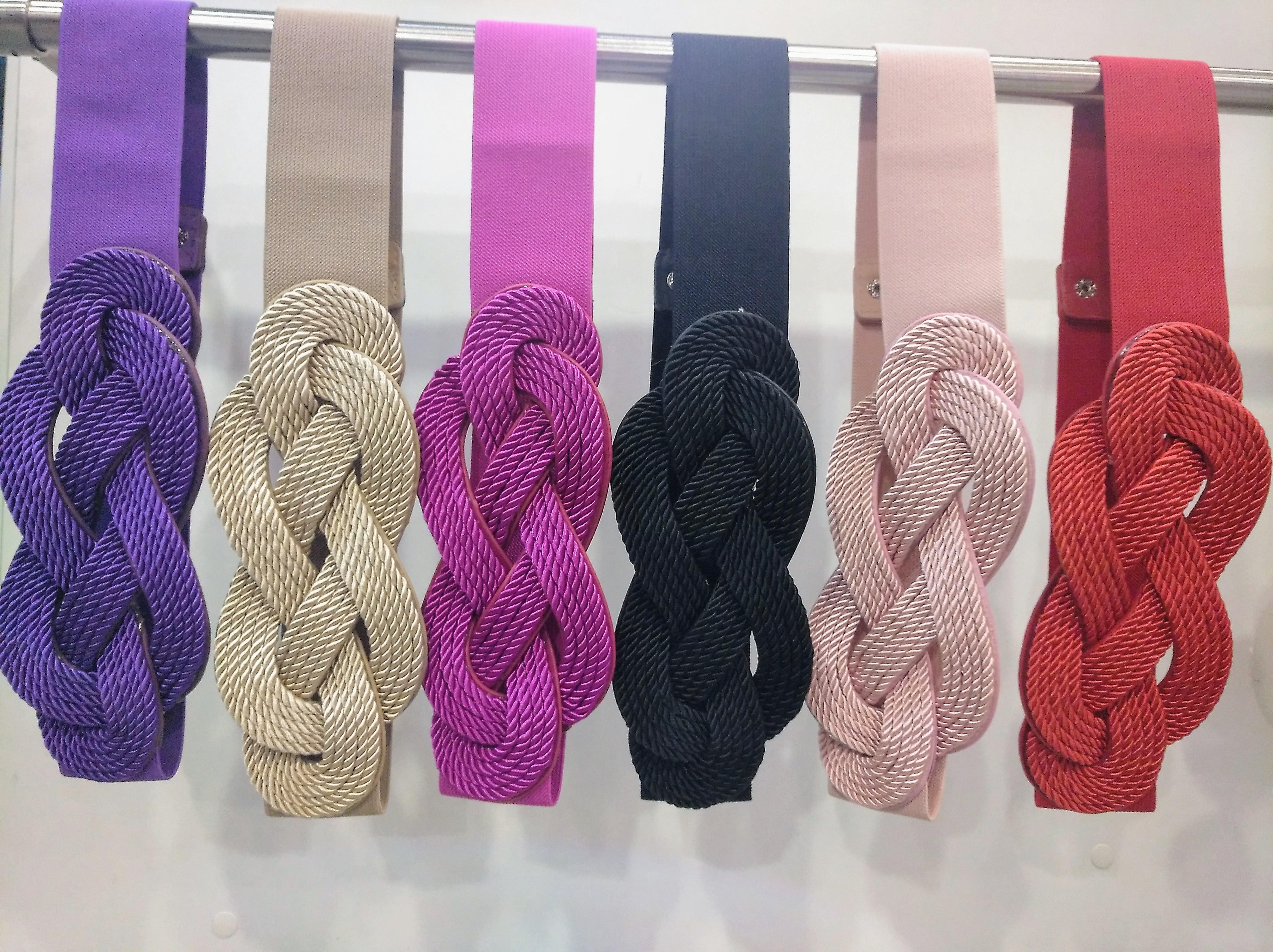 cinturón entrecruzado colores